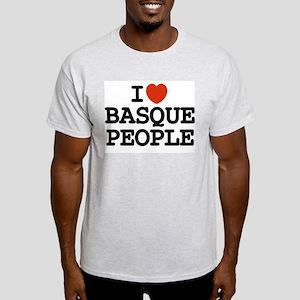 I [heart] Basque People Ash Grey T-Shirt